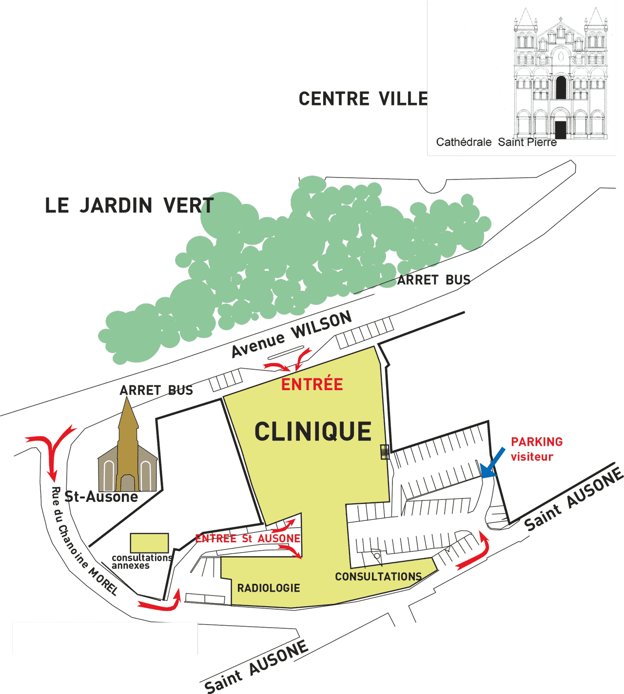 Plan clinique saint joseph